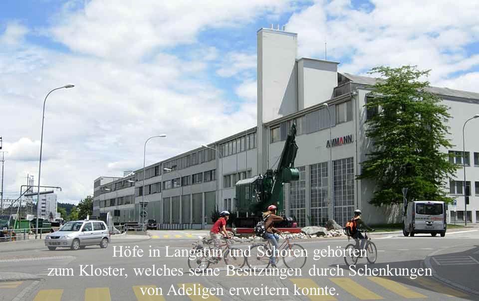 1194: Auf den Ländereien von Lütolf und Werner von Langenstein wurde von Mönchen das Kloster St. Urban gegründet.