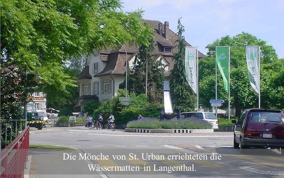 Höfe in Langatun und Schoren gehörten zum Kloster, welches seine Besitzungen durch Schenkungen von Adeligen erweitern konnte.