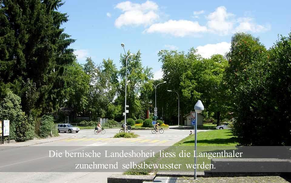 1415: Die Stadt Bern und das Kloster St. Urban schlossen ein ewiges Burgerecht. Langenthal unterstand der Landeshoheit von Bern.