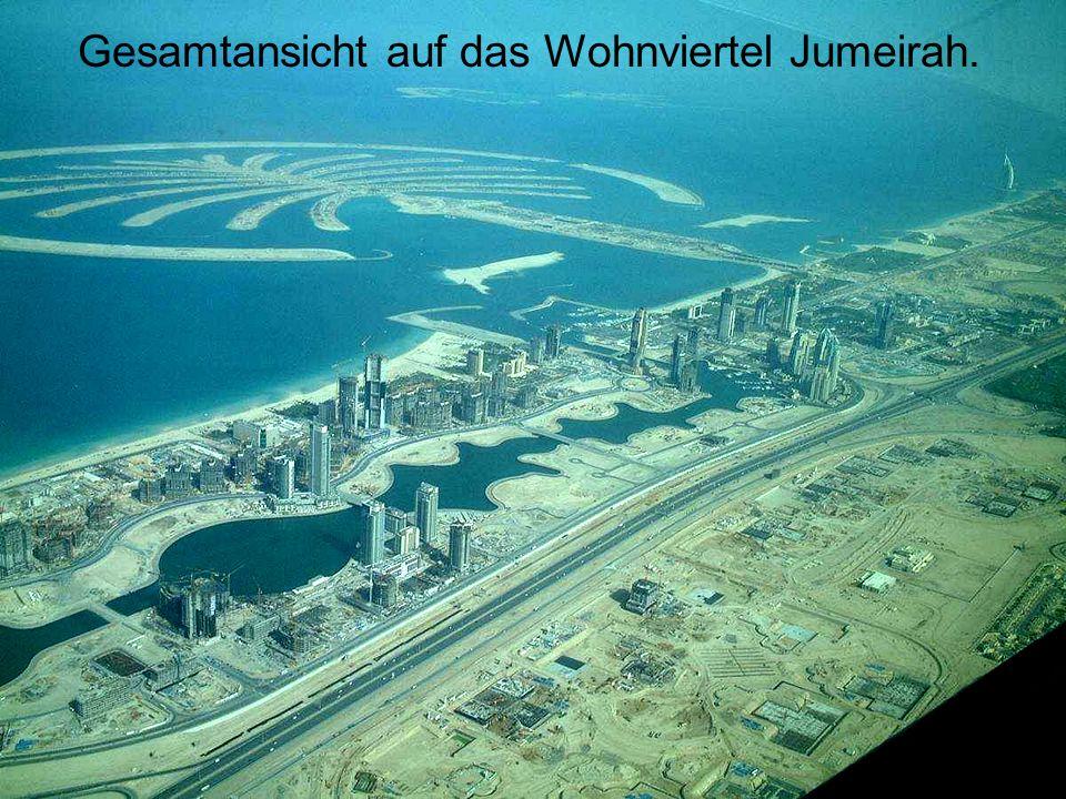 Gesamtansicht auf das Wohnviertel Jumeirah.