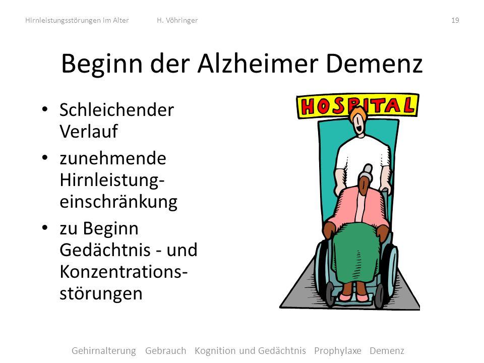 Hirnleistungsstörungen im Alter H.