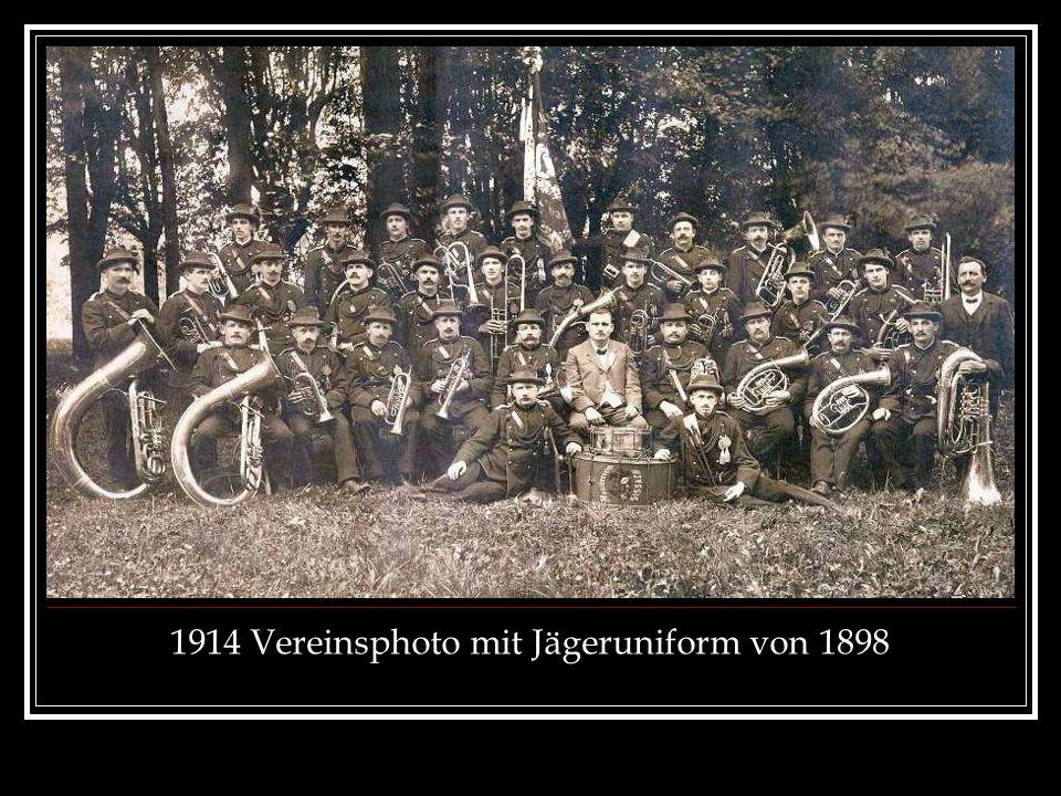 1914 Vereinsphoto mit Jägeruniform von 1898
