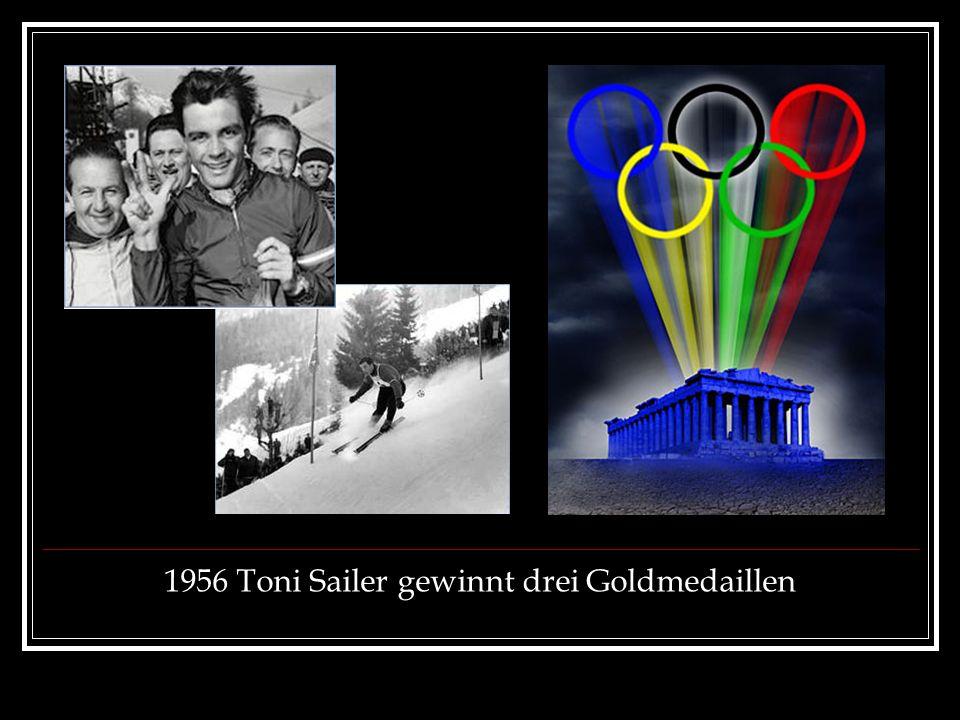 1956 Toni Sailer gewinnt drei Goldmedaillen