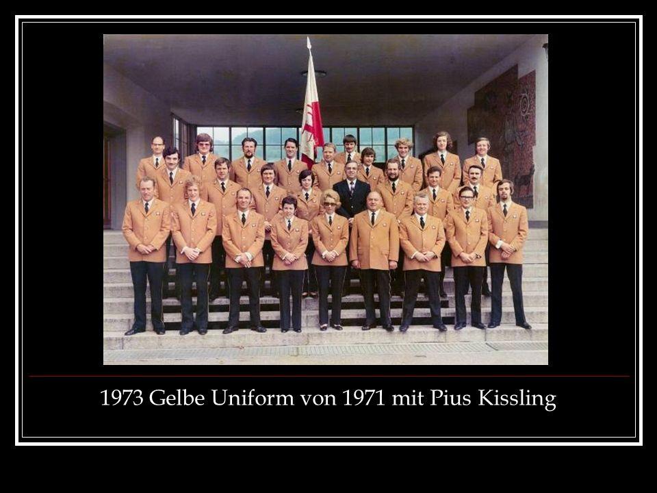 1973 Gelbe Uniform von 1971 mit Pius Kissling