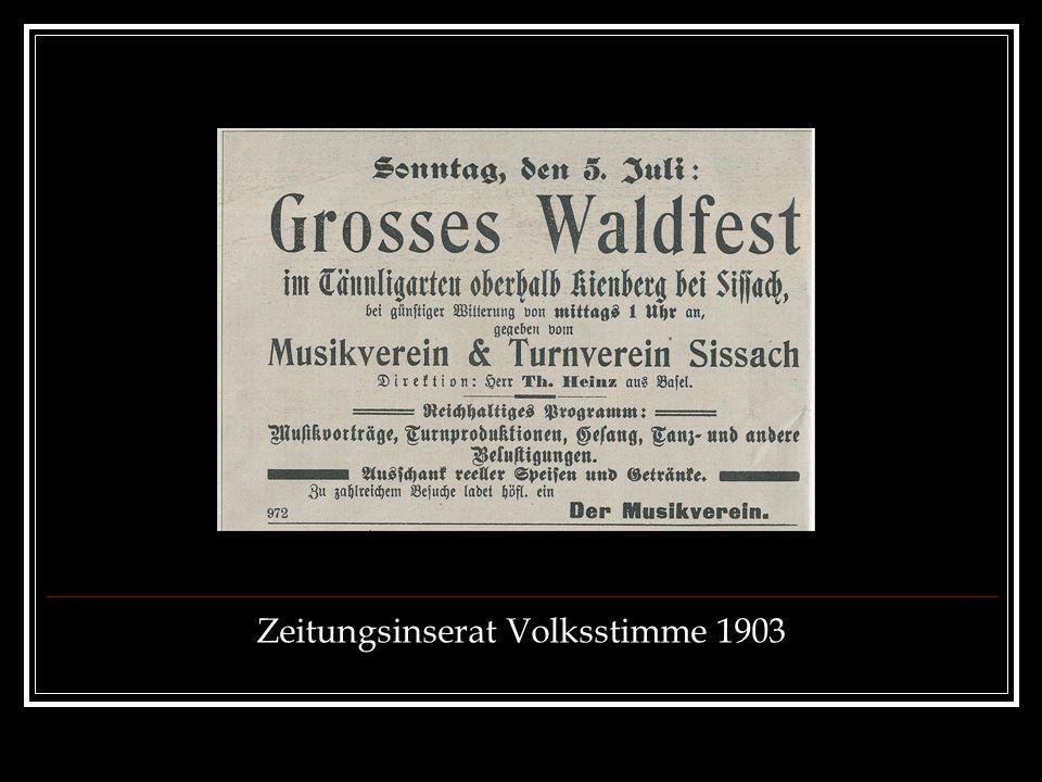 Zeitungsinserat Volksstimme 1903