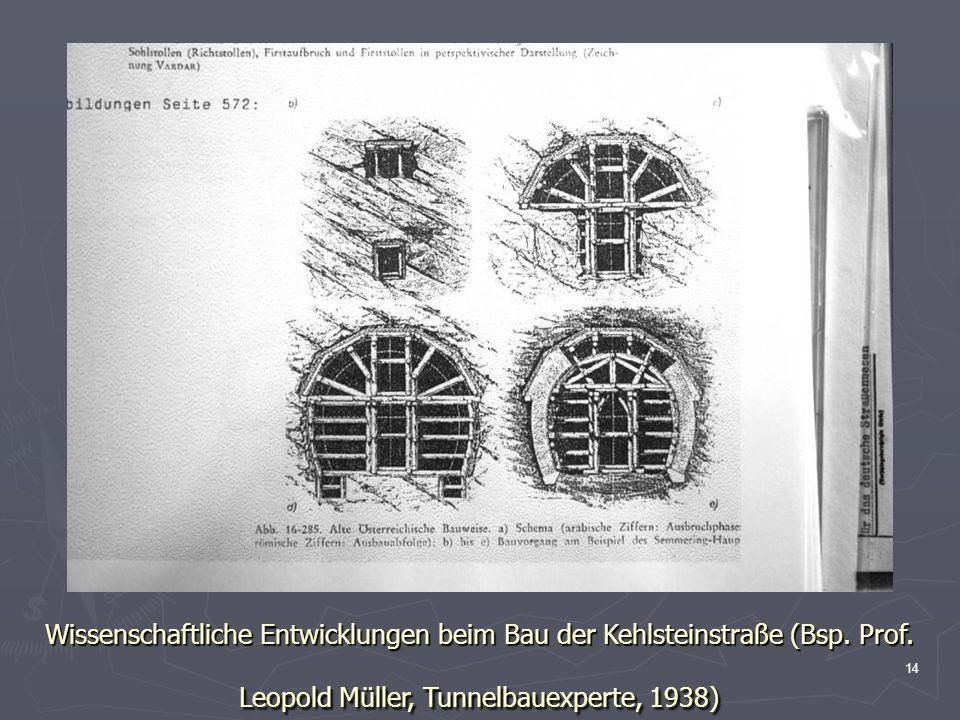 14 Wissenschaftliche Entwicklungen beim Bau der Kehlsteinstraße (Bsp. Prof. Leopold Müller, Tunnelbauexperte, 1938)