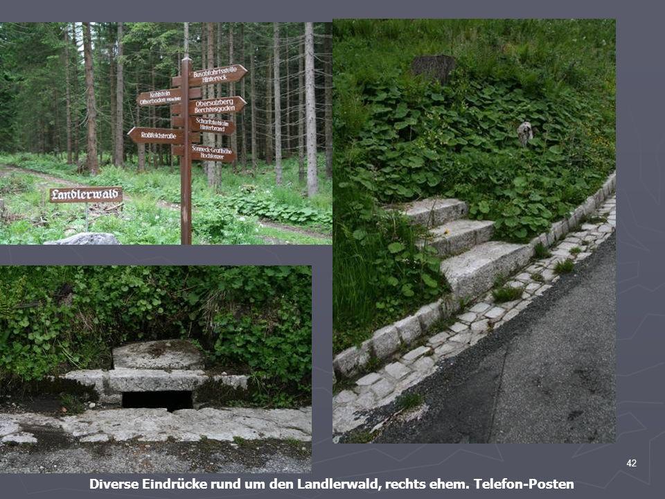 42 Diverse Eindrücke rund um den Landlerwald, rechts ehem. Telefon-Posten