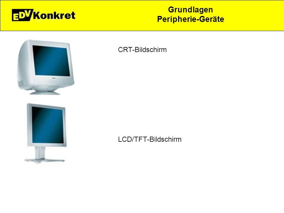 Grundlagen Peripherie-Geräte CRT-Bildschirm LCD/TFT-Bildschirm