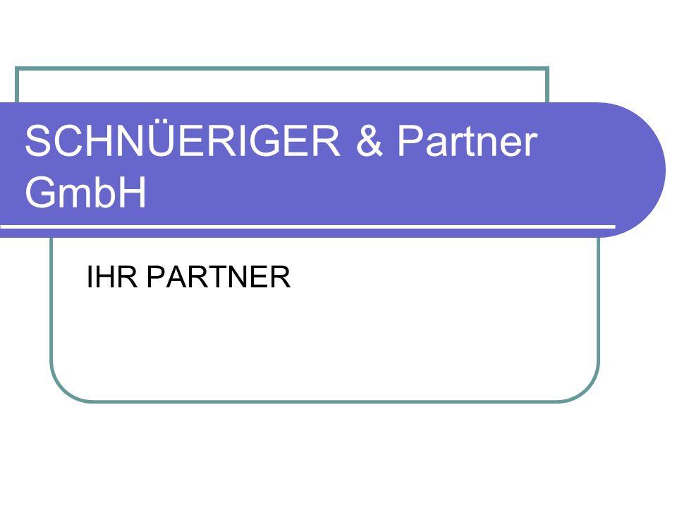 SCHNÜERIGER & Partner GmbH IHR PARTNER