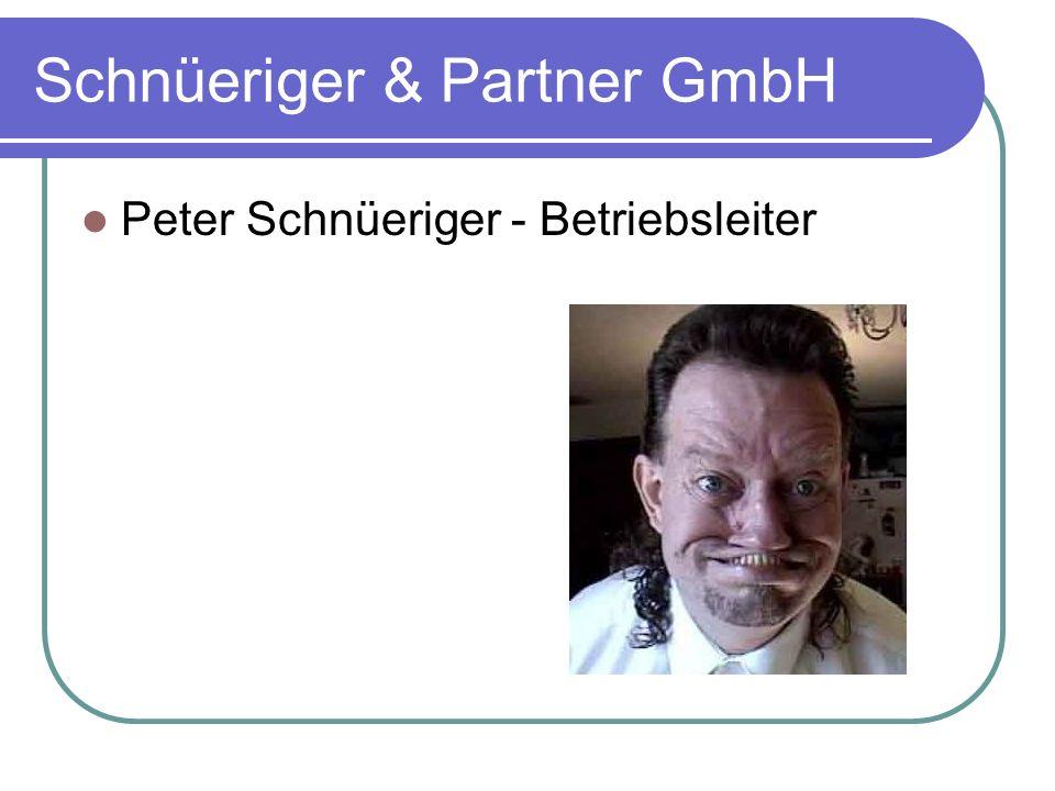 Schnüeriger & Partner GmbH Peter Schnüeriger - Betriebsleiter