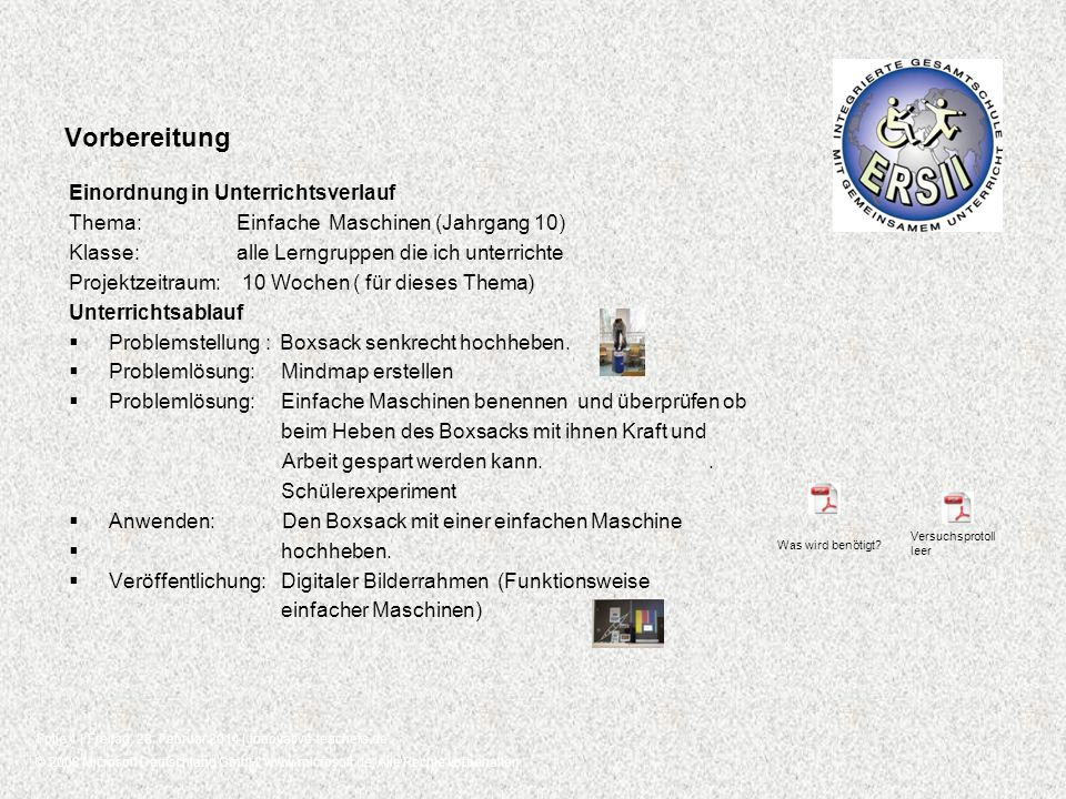 © 2008 Microsoft Deutschland GmbH, www.microsoft.de, Alle Rechte vorbehalten. Folie 4 | Freitag, 28. Februar 2014 | innovative-teachers.de Vorbereitun