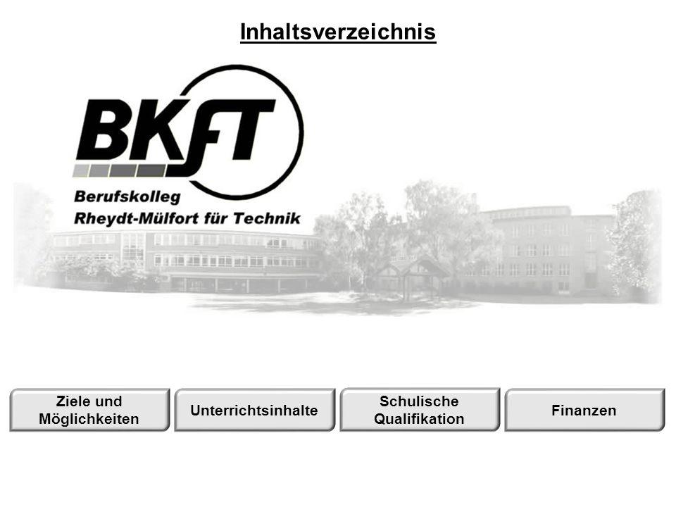 Berufskolleg Rheydt-Mülfort für Technik Mülgaustraße 361 41238 Mönchengladbach Tel.: 02166/919940 Unterrichtsinhalte Allgemein Stundenplan Metalltechnik Elektrotechnik Inhalte anderer Fächer
