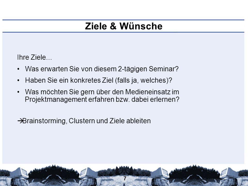78 Medieneinsatz im Projektmanagement – Standardsoftware – - Anzahl verfügbarer Software ist immens groß (Funktionen, Branchenlösungen, Plattformen,...) -www.pm-software.info <= großes Verzeichnis von Projektmanagementsoftware (aktuell 175 Produkte)www.pm-software.info -http://www.ispri.de/herstellerverzeichnis.php?id=15&isChild=1 (250 Produkte)http://www.ispri.de/herstellerverzeichnis.php?id=15&isChild=1 -Bekannteste Software: Microsoft Project -Version von 2007 für 665,89 bei amazon.de!.