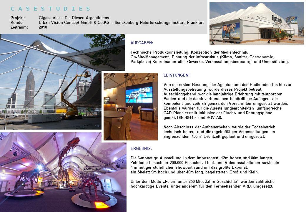 AUFGABEN: Technische Produktionsleitung, Konzeption der Medientechnik, On-Site-Management, Planung der Infrastruktur (Klima, Sanitär, Gastronomie, Par