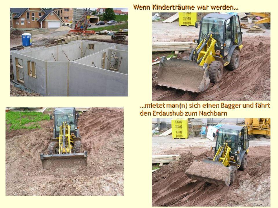 Kaum war die Bodenplatte gegossen, wurden auch schon die Kellerwände aufgestellt Kellereingang
