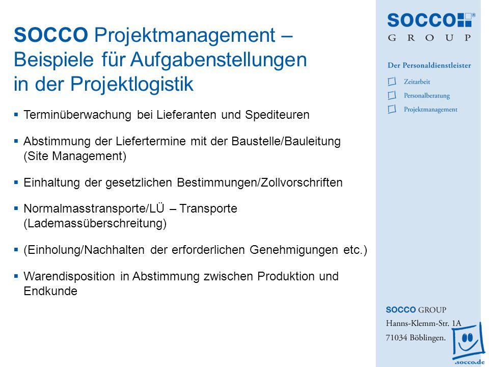 Terminüberwachung bei Lieferanten und Spediteuren Abstimmung der Liefertermine mit der Baustelle/Bauleitung (Site Management) Einhaltung der gesetzlic