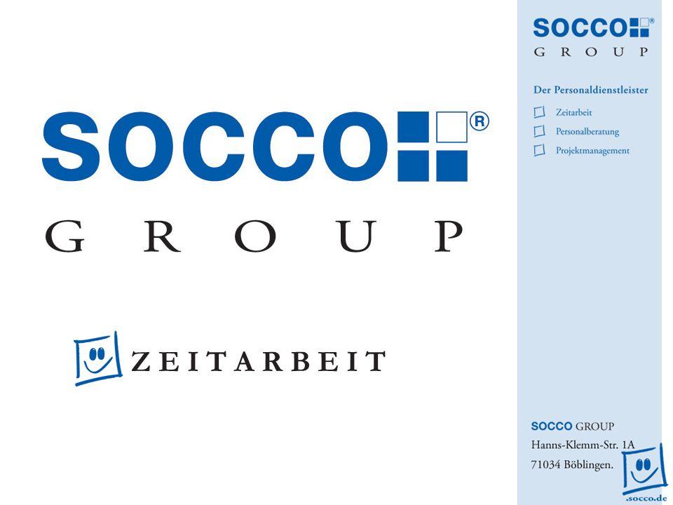 SOCCO Zeitarbeit – Ausgangslage im Unternehmen Reduktion der Personalkosten bei gleichzeitiger Erhöhung der Flexibilität und Reaktionszeit.