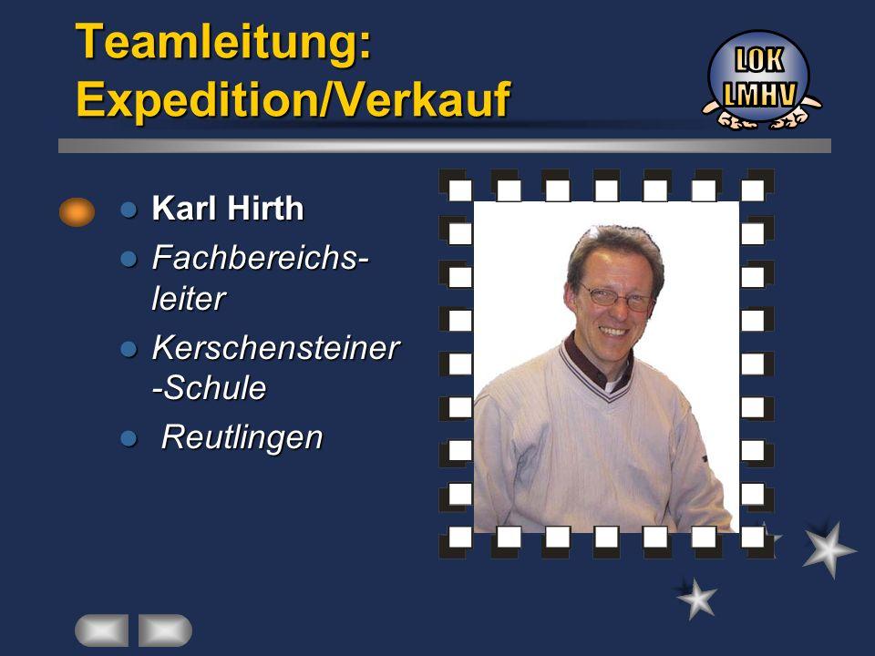 Karl Hirth Karl Hirth Fachbereichs- leiter Fachbereichs- leiter Kerschensteiner -Schule Kerschensteiner -Schule Reutlingen Reutlingen Teamleitung: Exp