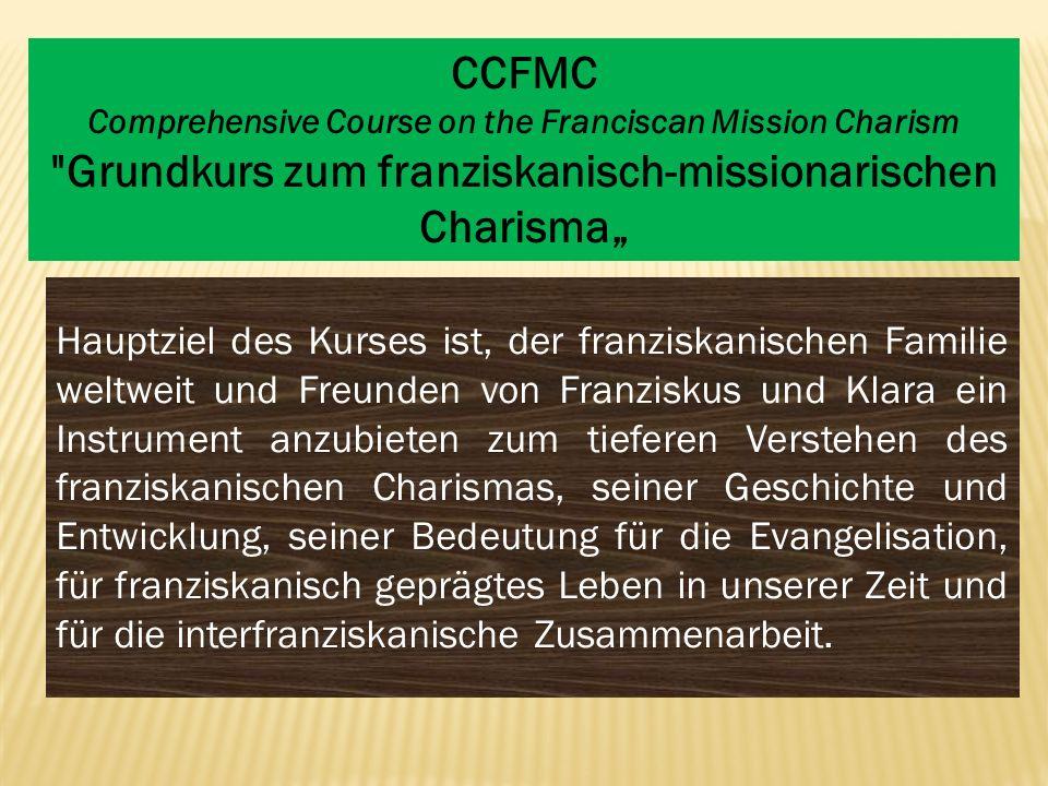 Hauptziel des Kurses ist, der franziskanischen Familie weltweit und Freunden von Franziskus und Klara ein Instrument anzubieten zum tieferen Verstehen