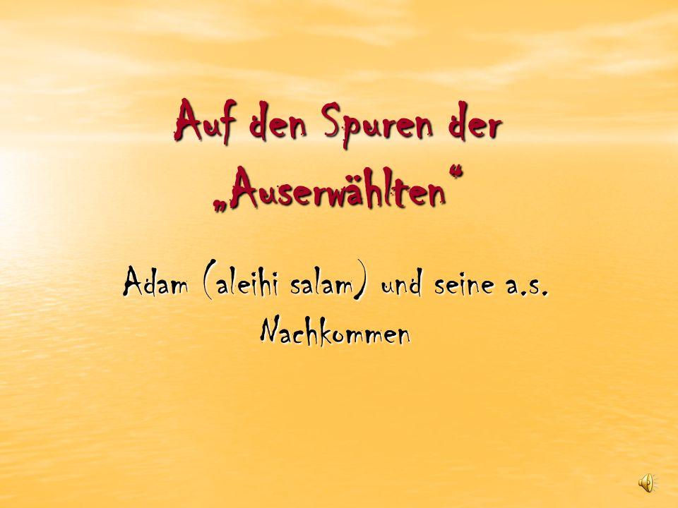 Auf den Spuren der Auserwählten Adam (aleihi salam) und seine a.s. Nachkommen