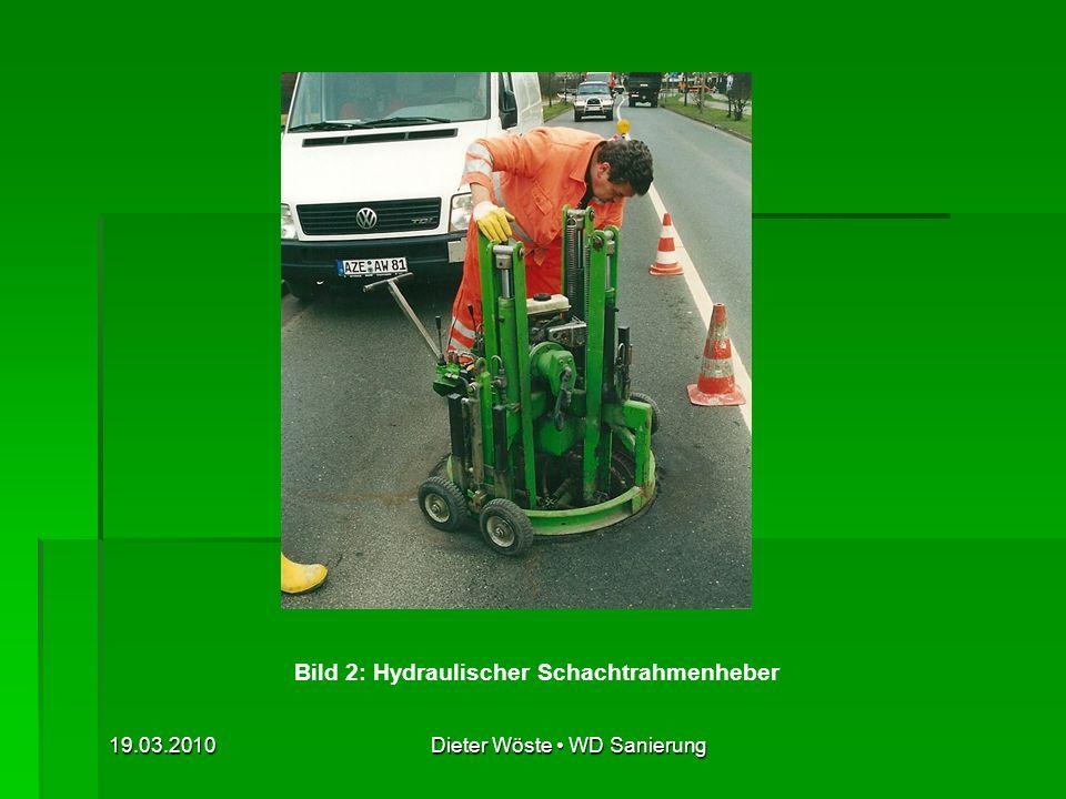 19.03.2010Dieter Wöste WD Sanierung Bild 23: Schachtabdeckungen, Rahmen zum Einwalzen, selbstnivellierend