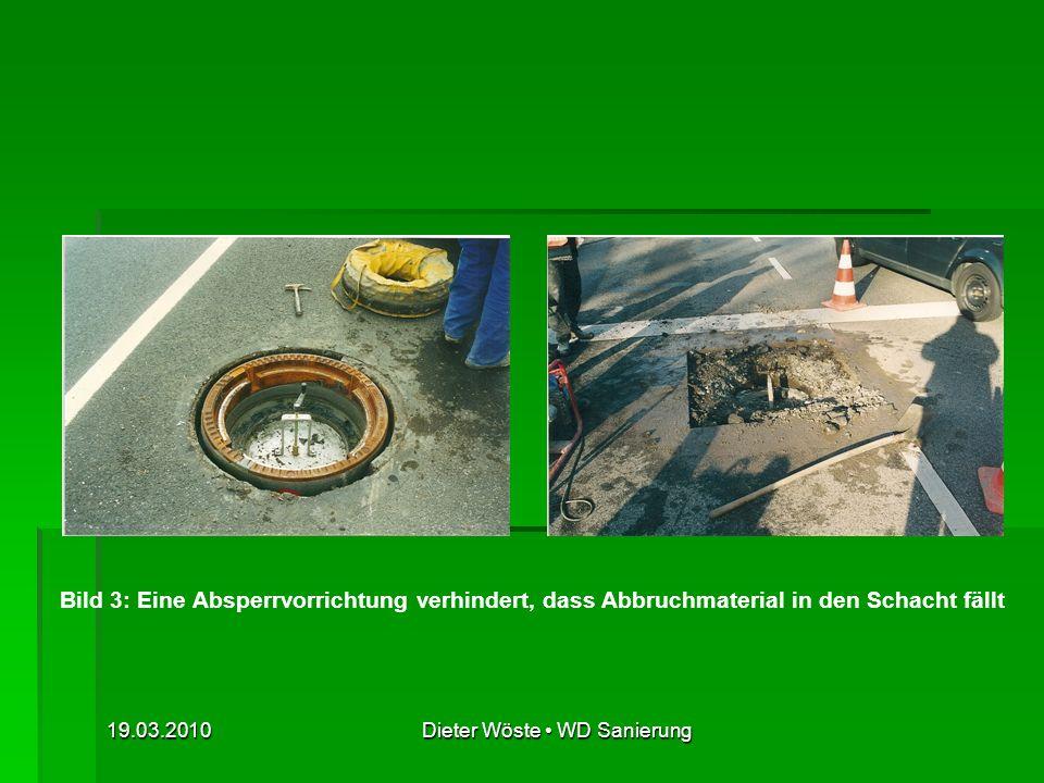 19.03.2010Dieter Wöste WD Sanierung Bild 11: Ausbau des alten Schachtgeschränks