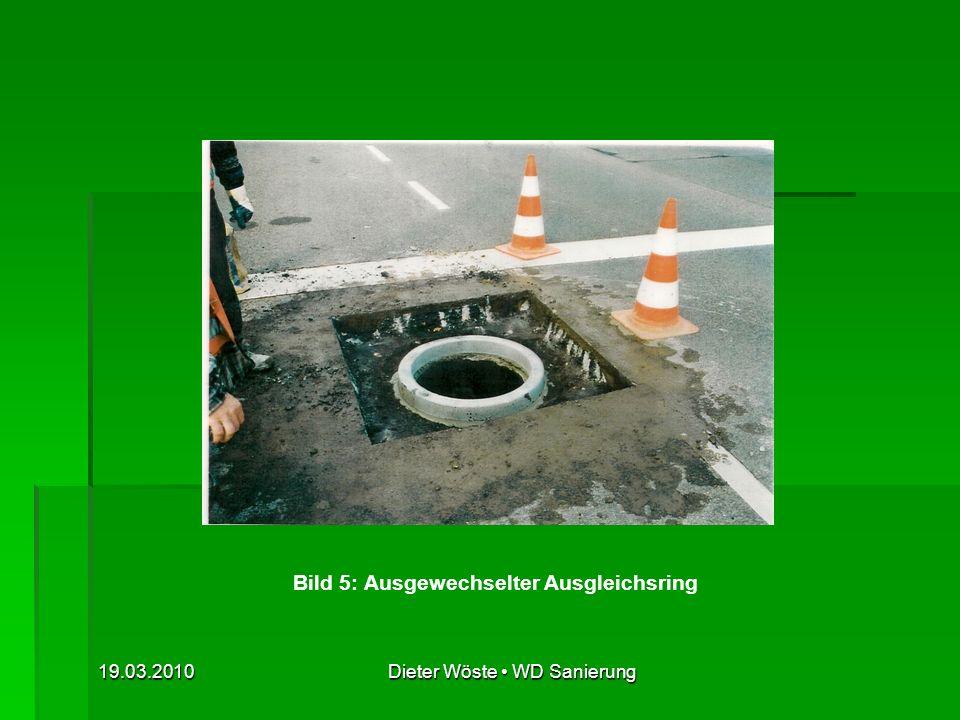 19.03.2010Dieter Wöste WD Sanierung Bild 6: Einbau des Rahmens mittels Justiervorrichtung