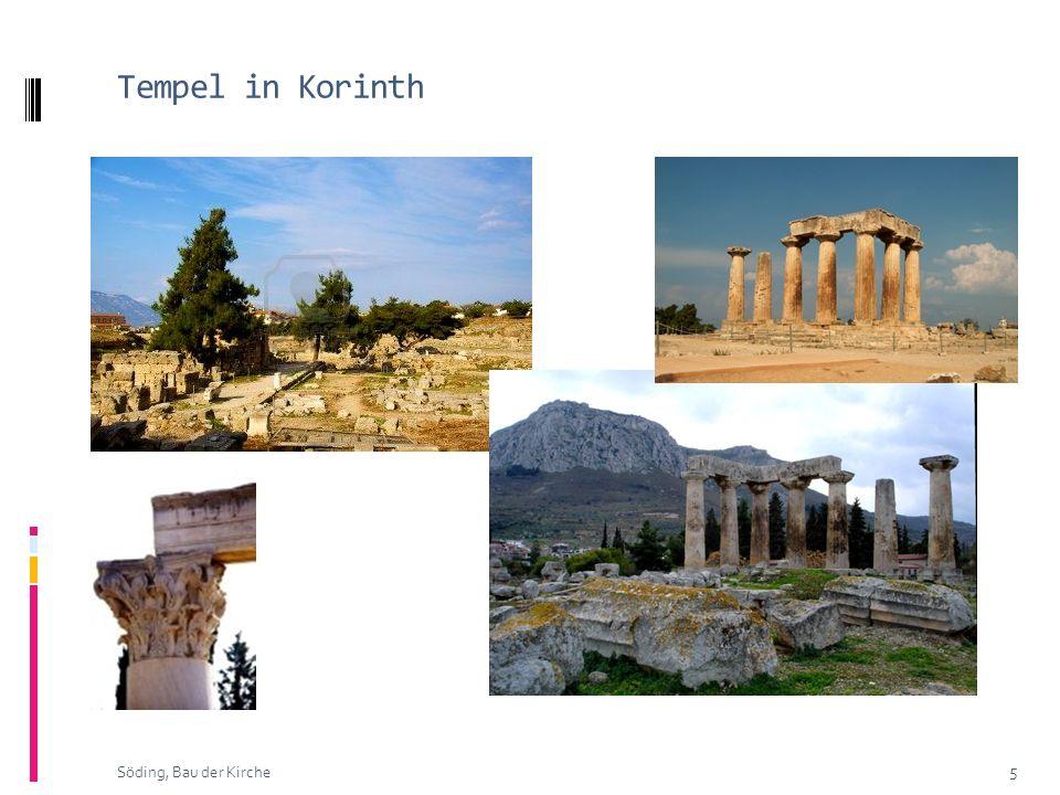 Tempel in Korinth 5 Söding, Bau der Kirche