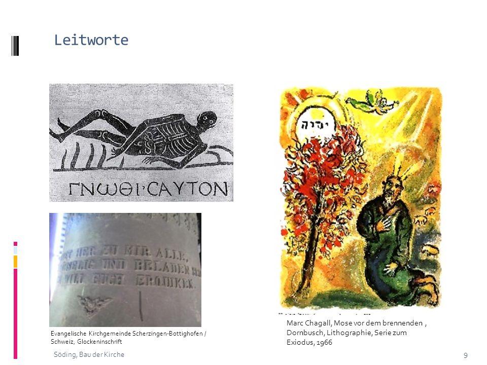 Leitworte 9 Söding, Bau der Kirche Marc Chagall, Mose vor dem brennenden, Dornbusch, Lithographie, Serie zum Exiodus, 1966 Evangelische Kirchgemeinde