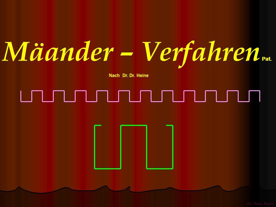 Mäander – Verfahren Pat. Nach Dr. Dr. Heine (Dr. Heine, Berlin)