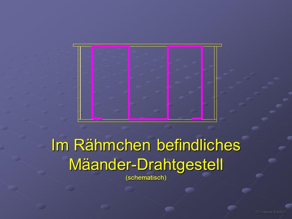 Im Rähmchen befindliches Mäander-Drahtgestell(schematisch) (Dr. Heine, Berlin) (Dr. Heine, Berlin)