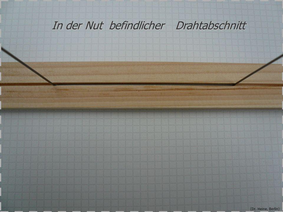 (Dr. Heine, Berlin) In der Nut befindlicher Drahtabschnitt