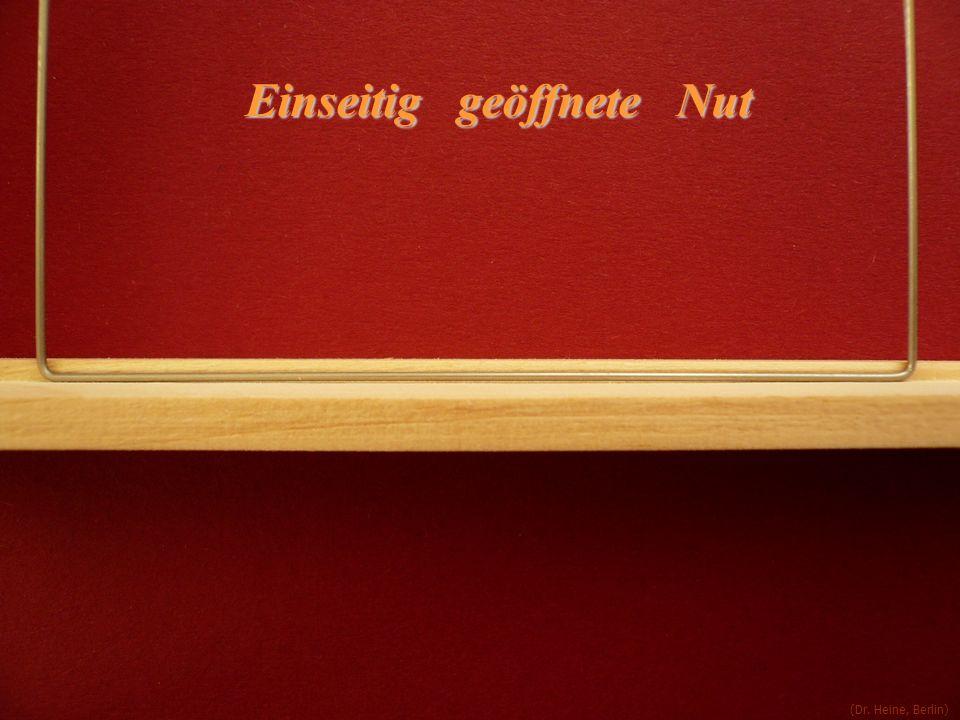 (Dr. Heine, Berlin) Einseitig geöffnete Nut
