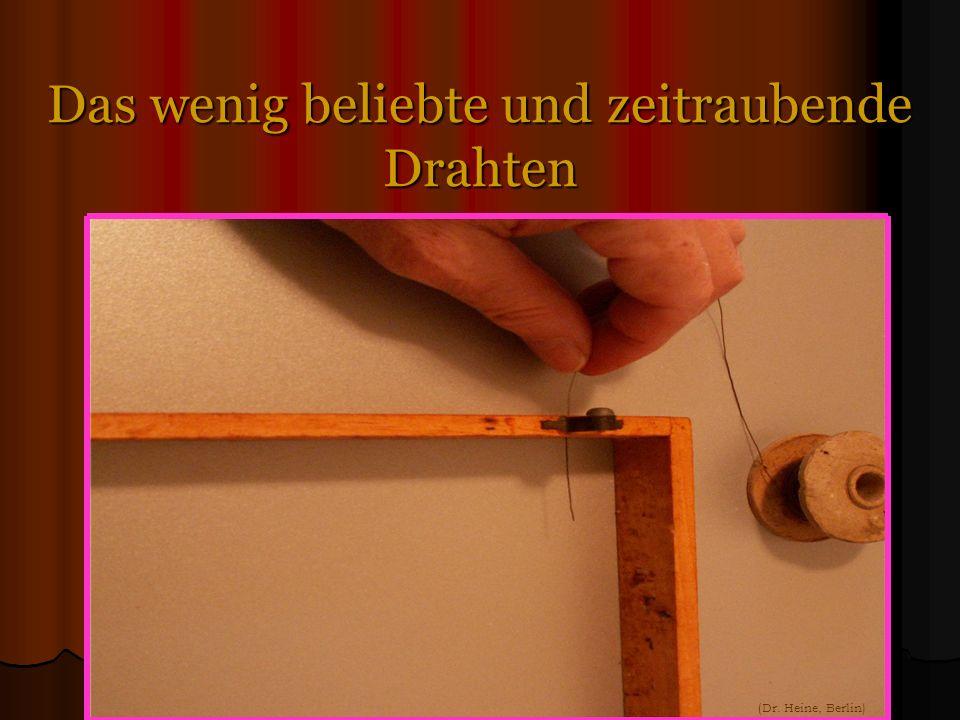 Das wenig beliebte und zeitraubende Drahten (Dr. Heine, Berlin)