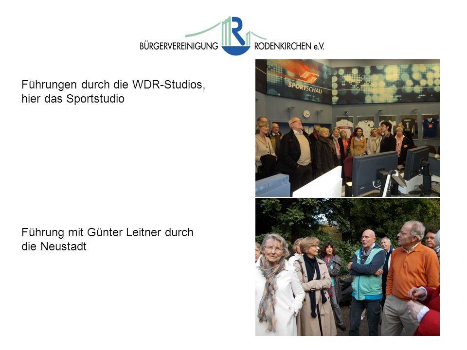 Führungen durch die WDR-Studios, hier das Sportstudio Führung mit Günter Leitner durch die Neustadt