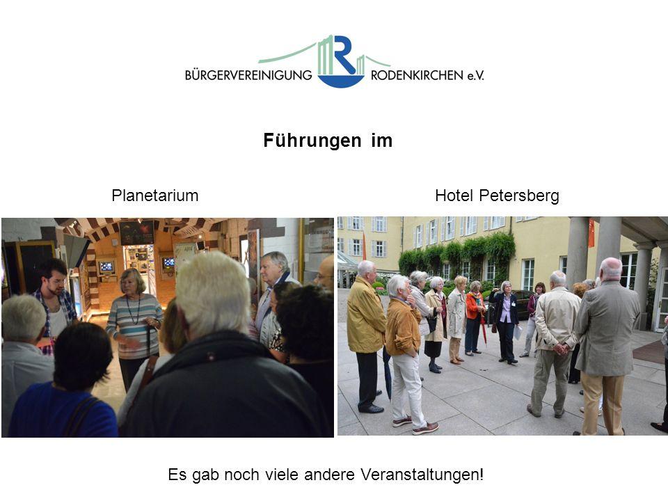 Führungen im PlanetariumHotel Petersberg Es gab noch viele andere Veranstaltungen!