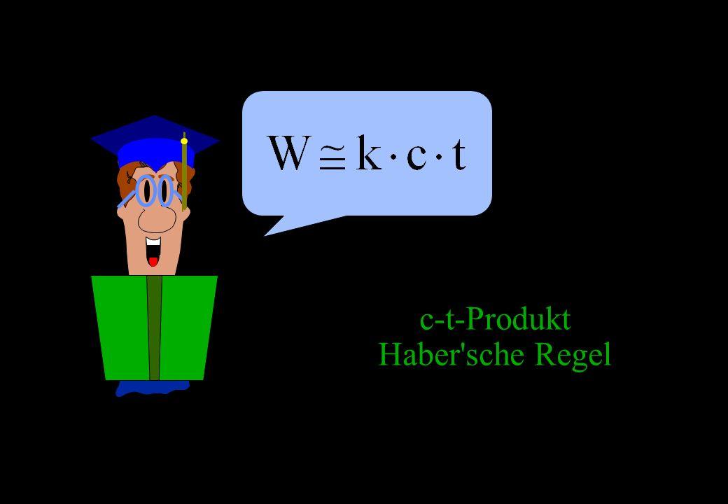 c-t-Produkt Haber'sche Regel