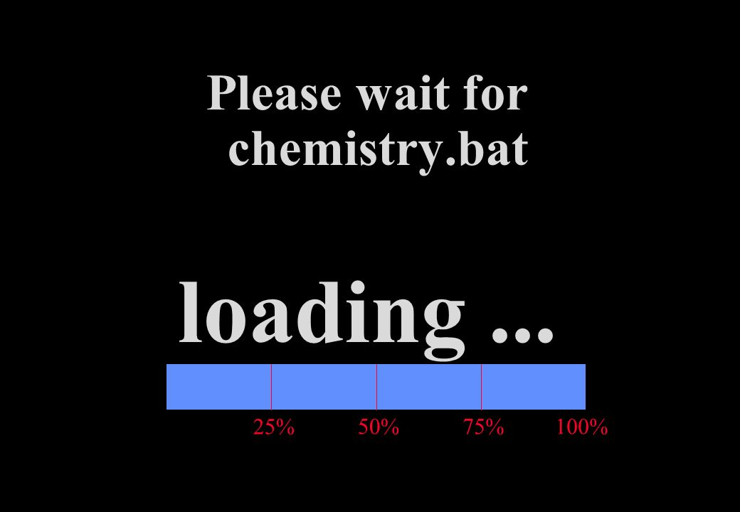 25% 50%75% Please wait for chemistry.bat loading... 100%