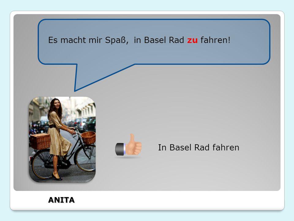 In Basel Rad fahren in Basel Rad zu fahren!Es macht mir Spaß, ANITA