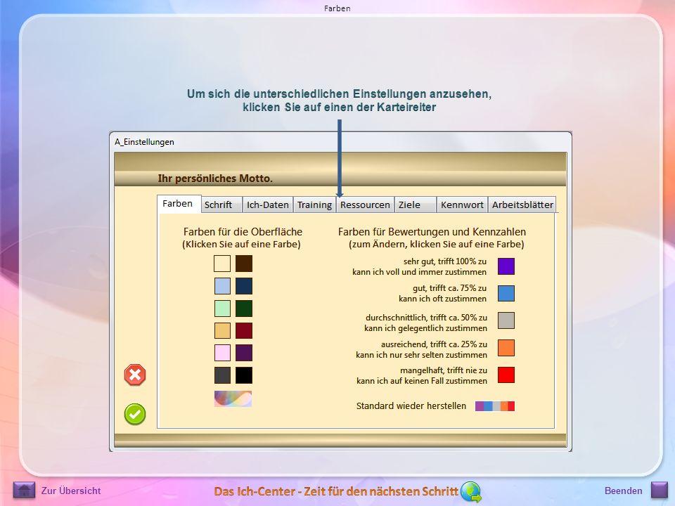Zur ÜbersichtBeenden Farben