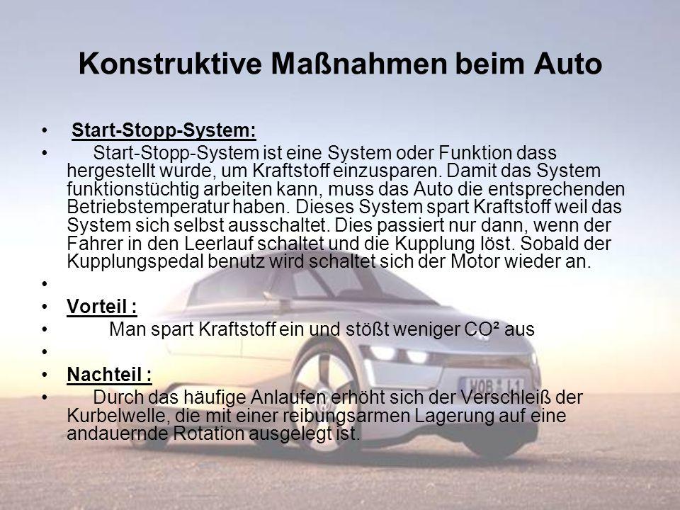 Konstruktive Maßnahmen beim Auto Start-Stopp-System: Start-Stopp-System ist eine System oder Funktion dass hergestellt wurde, um Kraftstoff einzuspare