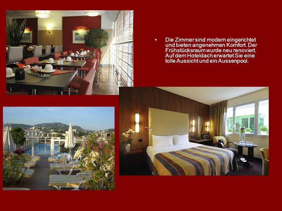 Die Zimmer sind modern eingerichtet und bieten angenehmen Komfort. Der Frühstücksraum wurde neu renoviert. Auf dem Hoteldach erwartet Sie eine tolle A