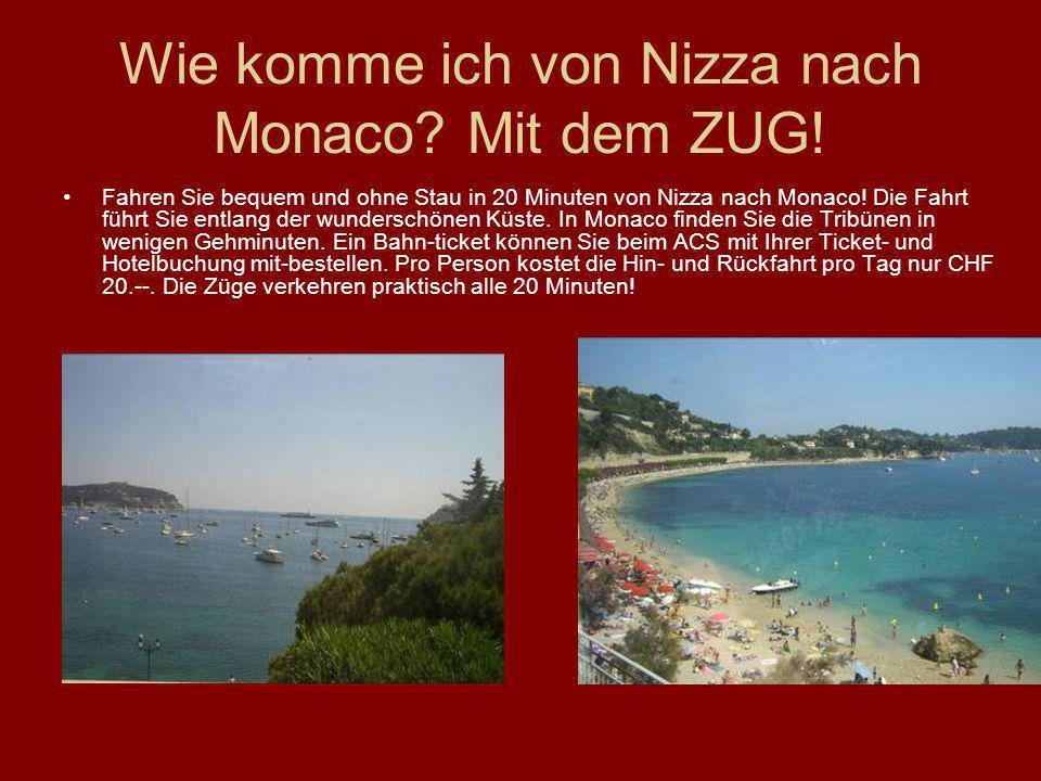 Wie komme ich von Nizza nach Monaco? Mit dem ZUG! Fahren Sie bequem und ohne Stau in 20 Minuten von Nizza nach Monaco! Die Fahrt führt Sie entlang der