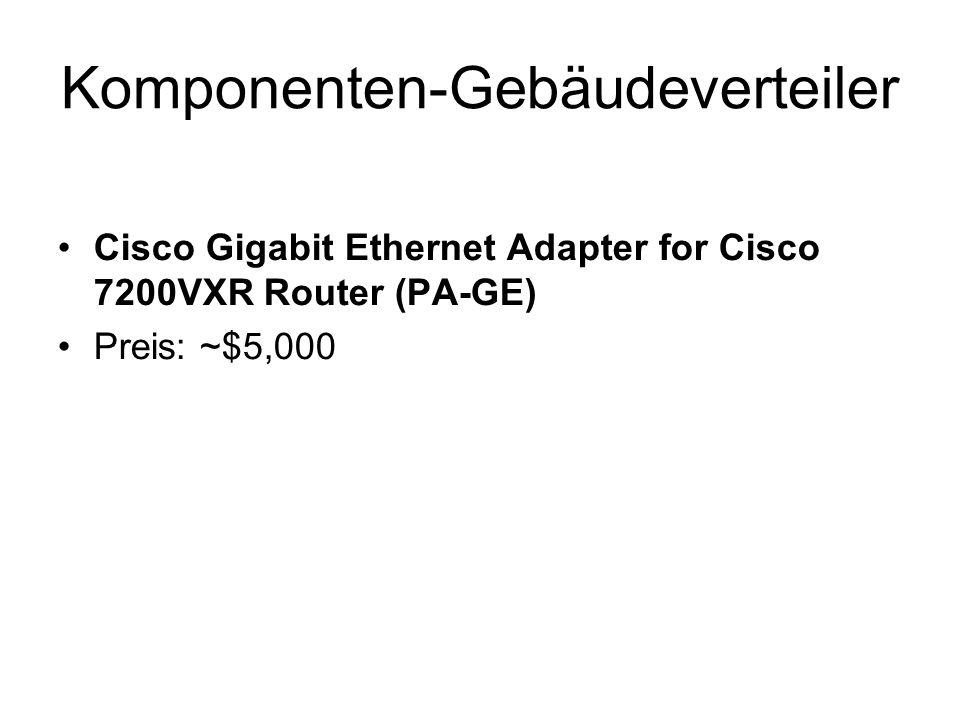 Komponenten-Gebäudeverteiler Cisco Gigabit Ethernet Adapter for Cisco 7200VXR Router (PA-GE) Preis: ~$5,000