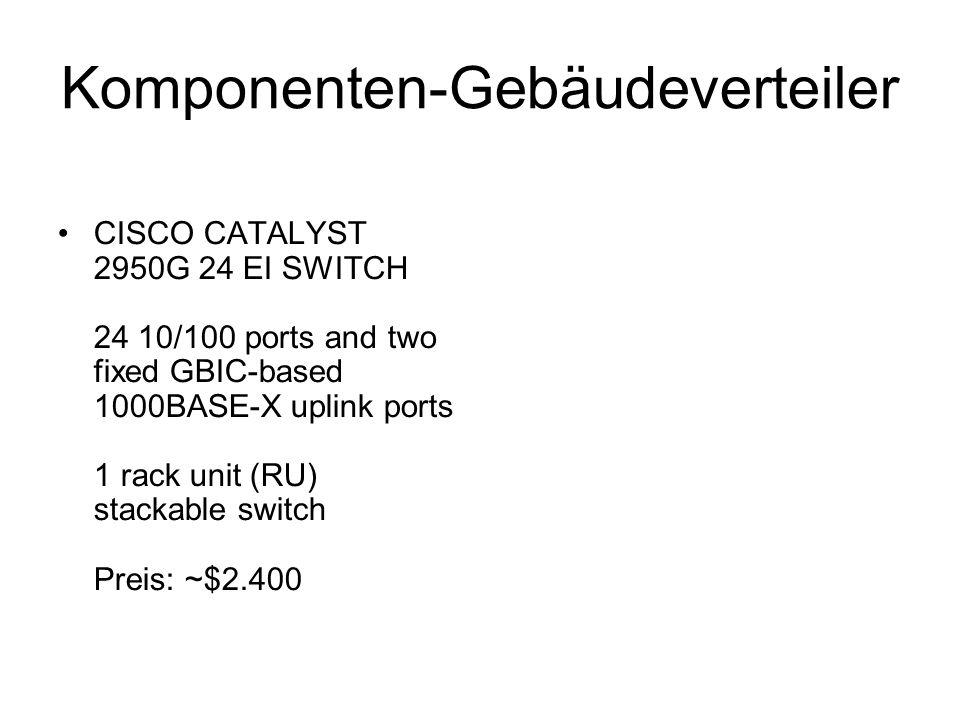 Komponenten-Gebäudeverteiler CISCO CATALYST 2950G 24 EI SWITCH 24 10/100 ports and two fixed GBIC-based 1000BASE-X uplink ports 1 rack unit (RU) stack