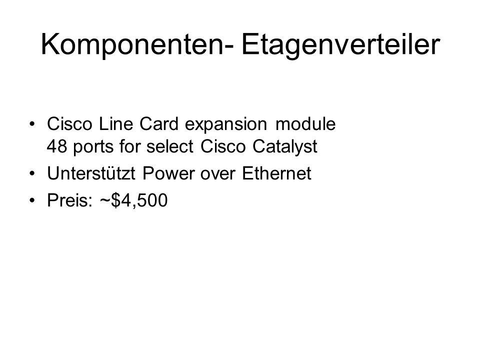 Komponenten- Etagenverteiler Cisco Line Card expansion module 48 ports for select Cisco Catalyst Unterstützt Power over Ethernet Preis: ~$4,500