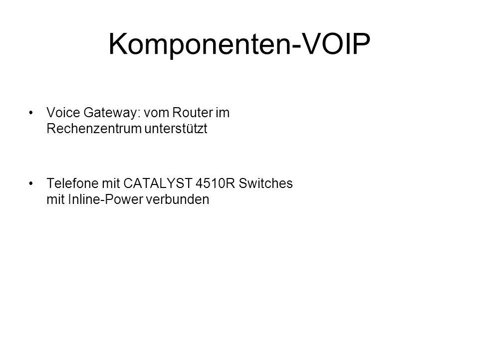 Komponenten-VOIP Voice Gateway: vom Router im Rechenzentrum unterstützt Telefone mit CATALYST 4510R Switches mit Inline-Power verbunden