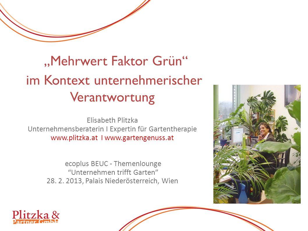 2 Mehrwert Faktor Grün Quelle/PfM: Office Innovation Center, Frauenhofer Institut Stuttgart - Leistung am Arbeitsplatz kann nur der zeigen, der sich dort auch wohl fühlt