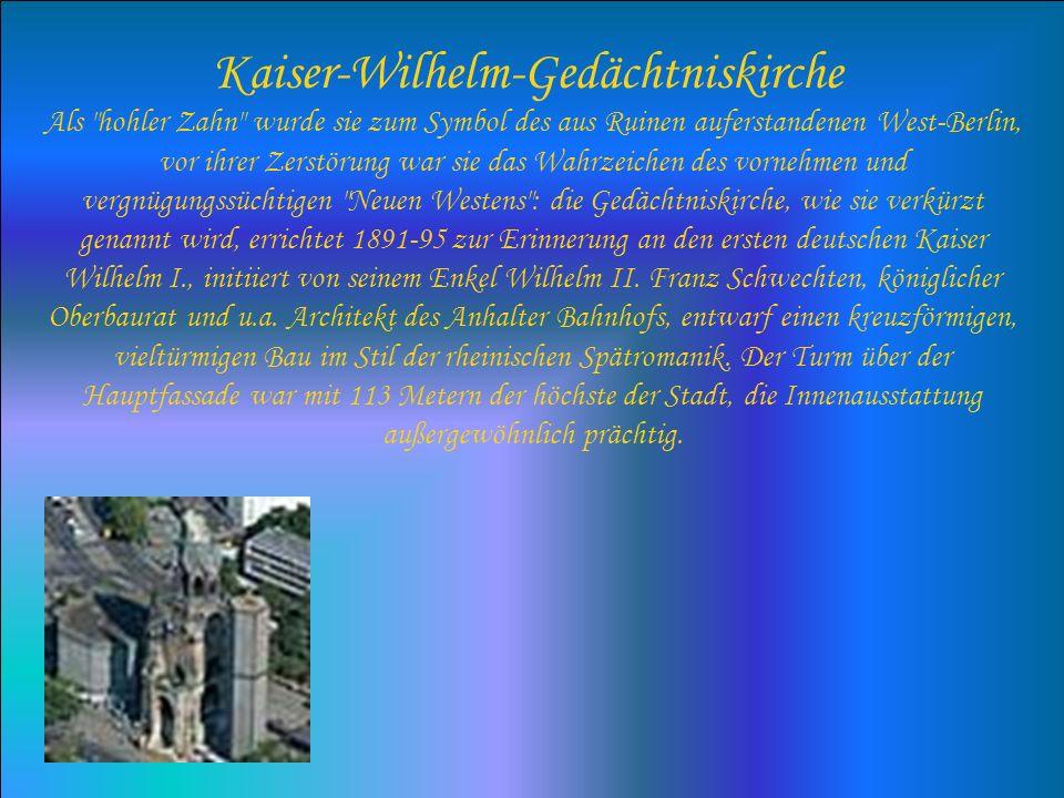 Kaiser-Wilhelm-Gedächtniskirche Als