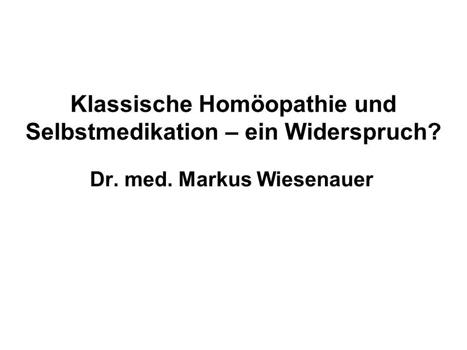 Klassische Homöopathie Einzelmittel bei Berücksichtigung von Causa Leitsymptomatik